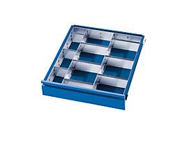 Schubladeneinteilungs-Set - 2 Trennwände, 9 Steckwände - für Schubladenhöhe 60 + 90 mm