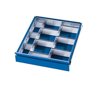 Schubladeneinteilungs-Set - 2 Trennwände, 9 Steckwände