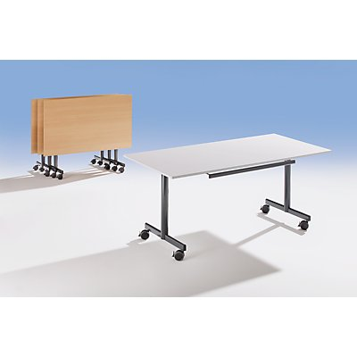 Sodematub Tisch mit abklappbarer Platte, mobil - HxBxT 720 x 1600 x 800 mm