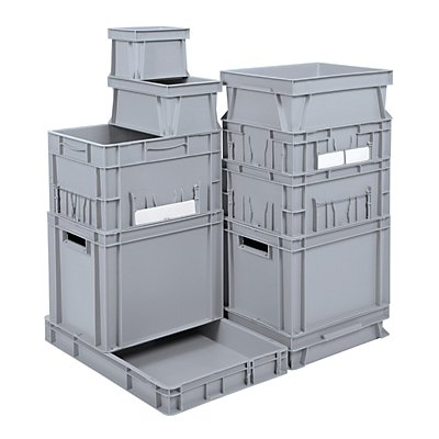 Euro-Stapelbehälter - Inhalt 123 l, LxBxH 800 x 600 x 300 mm, PE