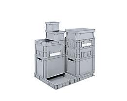 Euro-Stapelbehälter - Inhalt 3 l, LxBxH 200 x 150 x 145 mm, PP - grau, ab 10 Stk