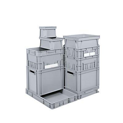 Euro-Stapelbehälter - Inhalt 6 l, LxBxH 300 x 200 x 145 mm, PP - grau