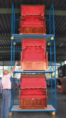 Rollbehälter UNIVERSAL 2010 - Seitengitter und Rückwand, Maschenweite 250 x 500 mm