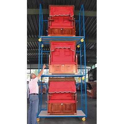 A&A Rollbehälter UNIVERSAL 2010 - Seitengitter und Rückwand, Maschenweite 250 x 500 mm