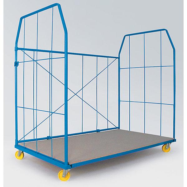 Image of A&A Rollbehälter UNIVERSAL 2010 - Seitengitter und Rückwand Maschenweite 250 x 500 mm - BxHxT 2000 x 1850 x 1150 mm