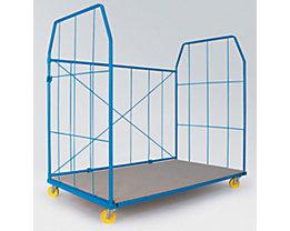 Roll-conteneur UNIVERSAL 2010 - panneaux latéraux et arrière, dimensions mailles 250 x 500 mm