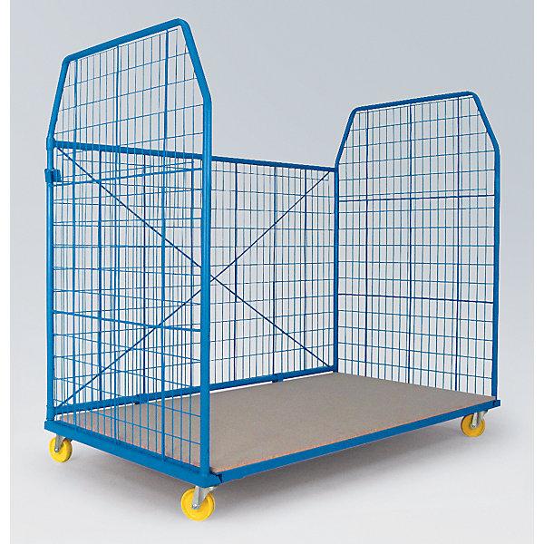 Image of A&A Rollbehälter UNIVERSAL 2010 - Seitengitter und Rückwand Maschenweite 50 x 100 mm BxHxT 1200 x 1850 x 1150 mm