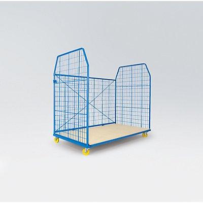 A&A Rollbehälter UNIVERSAL 2010 - Seitengitter und Rückwand, Maschenweite 50 x 100 mm