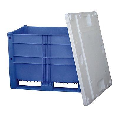 Großbehälter aus Polyethylen - Inhalt 623 l, 2 Kufen und 6 Füße