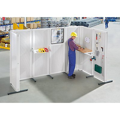 ANKE Industrie-Trennwandsystem - Grundelement fahrbar, Breite 800 mm