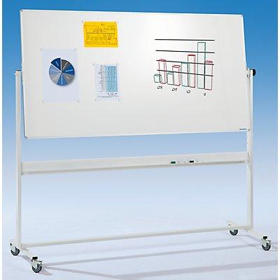 Stativ-Drehtafel, doppelseitig - speziallackiertes Stahlblech