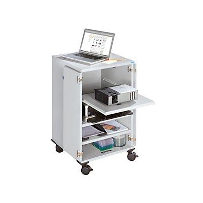 office akktiv Multimediawagen, mobil - 2 Flügeltüren, 3 Fachböden - HxBxT 960 x 550 x 550 mm