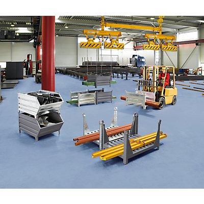 Heson Langgutgestell mit 2 Längswänden - LxB 1200 x 1000 mm