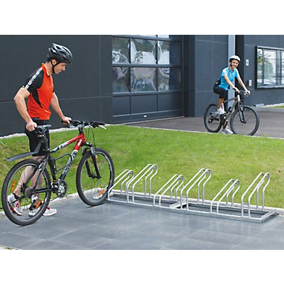 EUROKRAFT Fahrradständer, Bügel aus Stahlrohr, Radeinstellung einseitig