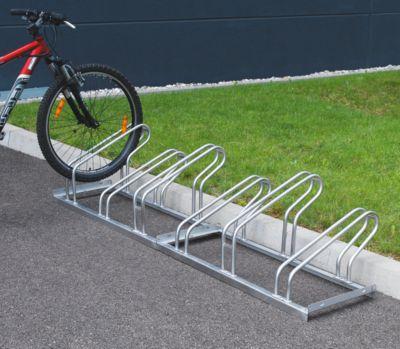 EUROKRAFT Fahrradständer, Bügel aus Stahlrohr, Radeinstellung