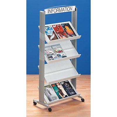 Prospektständer aus Polystyrol - für 12 x DIN A4