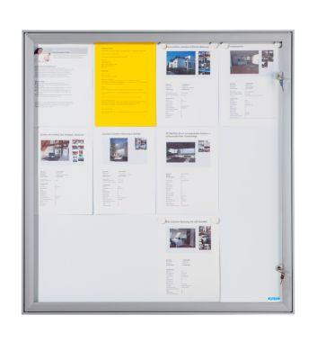 office akktiv Schaukasten mit Flügeltür - Außen-BxHxT 960 x 1005 x 33 mm