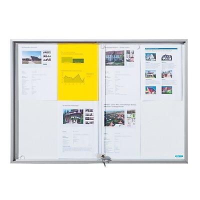 office akktiv Schaukasten mit Schiebetüren - Außen-BxHxT 2006 x 947 x 50 mm