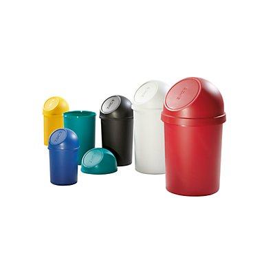 helit Push-Mülleimer aus Kunststoff - VE 3 Stück