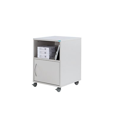 office akktiv Unterschrank, mobil - HxBxT 695 x 500 x 500 mm - lichtgrau RAL 7035