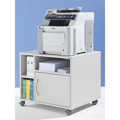 office akktiv Unterschrank, mobil - HxBxT 595 x 700 x 570 mm - lichtgrau RAL 7035