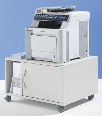 office akktiv Unterschrank, mobil - HxBxT 425 x 700 x 570 mm - lichtgrau RAL 7035