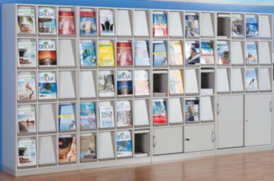 office akktiv Klappenschrank - mit 16 Klappen und Schiebetürschrank - HxBxT 1864 x 1000 x 420 mm
