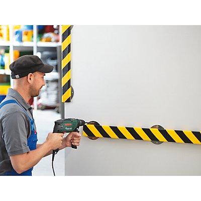 SHG Knuffi Knuffi® Warn- und Schutzprofil - Länge 1000 mm, Querschnitt L-Form klein, gelb / schwarz
