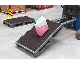 Palette pour charges lourdes à revêtement antidérapant - L x l 1200 x 800 mm