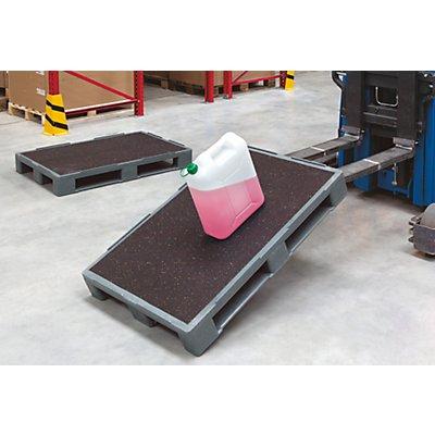 Schwerlastpalette mit Antirutsch-Beschichtung - LxB 1200 x 1000 mm