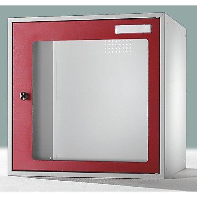 QUIPO Schließfachwürfel mit Sichtfenster - HxBxT 450 x 450 x 450 mm