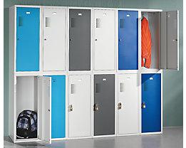 QUIPO Schließfachschrank, je 1 Kleiderstange - HxBxT 1000 x 300 x 500 mm, mit Zylinderschloss