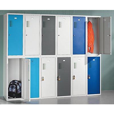 QUIPO Schließfachschrank, je 1 Kleiderstange - HxBxT 1000 x 400 x 500 mm, mit Vorhängeschlossvorrichtung