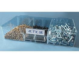 Querteiler, aus Polystyrol - glasklar - für HxB 35 x 52 mm, VE 20 Stk
