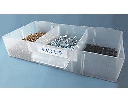 Querteiler, aus Polypropylen - transparent - für HxB 35 x 52 mm, VE 20 Stk