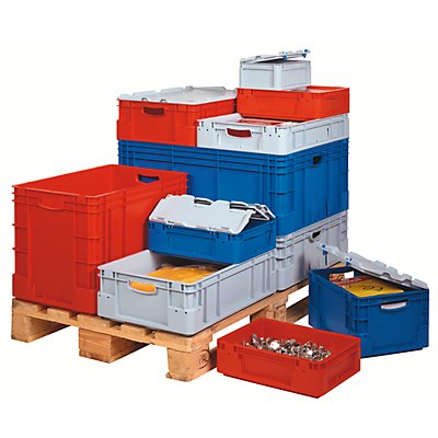 VECTURA Industriebehälter - Inhalt 40 l, LxBxH 600 x 400 x 220 mm, VE 4 Stk