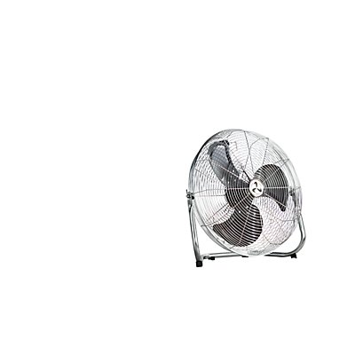 Bodenventilator - Ganzmetall verchromt, 3-Stufen-Schalter - Korb-Ø 450 mm