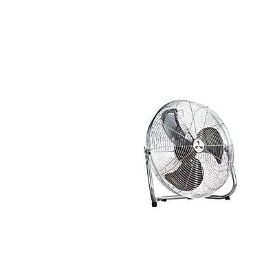CasaFan Bodenventilator mit Tragegriff - Stahl verchromt, Rotorblatt -Ø 400 mm