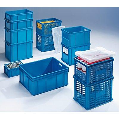 Stapel- und Transportbehälter - Wände, Boden geschlossen, Stirnseitenöffnung