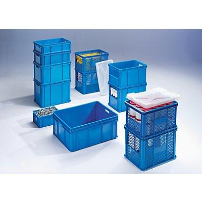 Plastipol-Scheu Stapel- und Transportbehälter - Wände, Boden durchbrochen, Stirnseitenöffnung