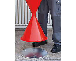 Bodenronde für Kegel-Standascher - aus feuerverzinktem Stahlblech - Gewicht 3 kg
