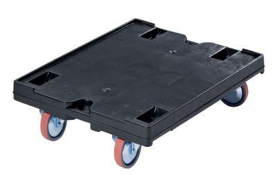 Transportroller - 800 x 600 mm, Tragfähigkeit 500 kg - schwarz