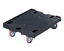 utz Transportroller - LxB 800 x 600, Tragfähigkeit 500 kg - Rad-Ø 125 mm
