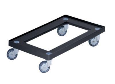 Kunststoff-Fahrgestell - 600 x 400 mm, Tragfähigkeit 150 kg - schwarz