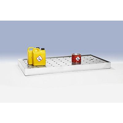 Lochblechabdeckung zu Wannenboden - BxT 1000 x 500 mm - für Schiebetürenschrank XL