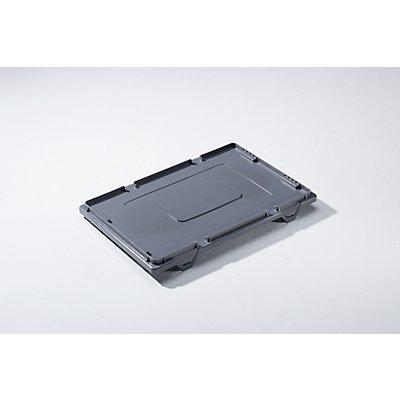 Deckel aus Polyethylen - TxB 400 x 300 mm - grau