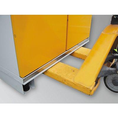 Schrank-Unterfahrsockel - für BxT 900 x 900 mm - für Fass-Schrank