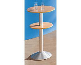Bistrotisch mit Gusseisenfuß - 2 Tischplatten, Abstand 30 cm
