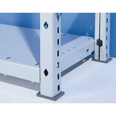 Büro-Steckregal, kunststoffbeschichtet - Regalhöhe 2500 mm, 6 Fachböden