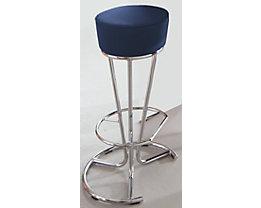 Barhocker - Kunstlederbezug - blau